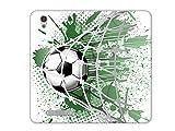 etuo Handyhülle für ZTE Blade A452 LTE - Hülle, Handy Flip Case - Ball im Tor