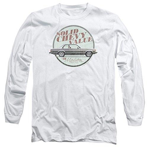 Chevrolet -  Maglia a manica lunga  - Uomo White
