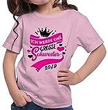 HARIZ  Mädchen T-Shirt Ich Werde Eine Große Schwester 2019 Große Schwester Geburtstag Bruder Weihnachten Plus Geschenkkarte Rosa 140/9-11 Jahre