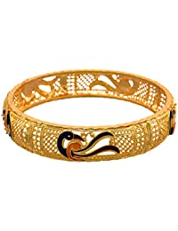 JFL - Traditional Ethnic Fusion One Gram Gold Plated Meenakari Peacock Designer Bangle For Women & Girls