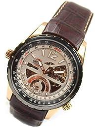 Reloj de pulsera para hombre Orient Classic automático, esfera semiesqueleto, de piel, color oro rosa FFT00009W0