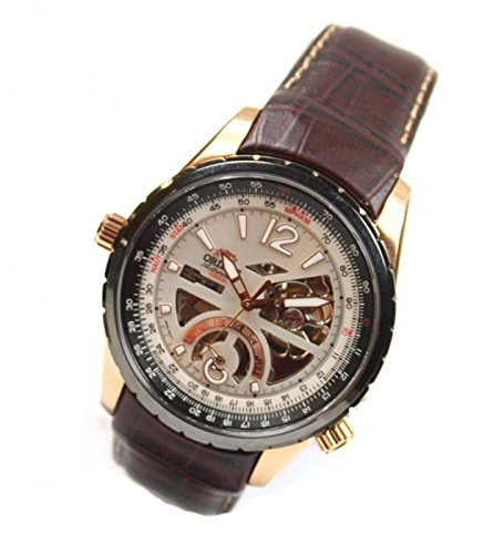 Orient Semi Skeleton Classic Automatic Men's Watch Leather Rose Gold FFT00009W0