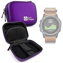 DURAGADGET Estuche Rígido Morado Para Smartwatch Garmin Fénix 3 / HR / Leather / Nylon / Titanium