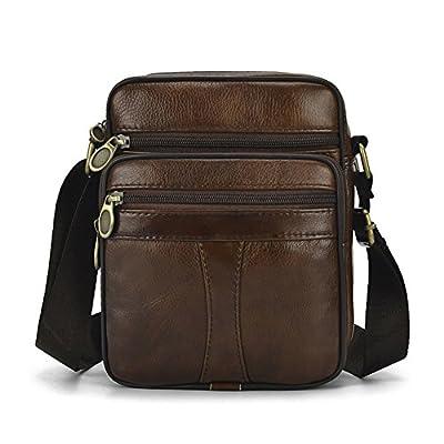 Sac en cuir véritable pour homme vintage Bandoulière Business Sac à main Sac à bandoulière sacoche sac d'ordinateur portable