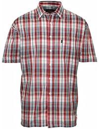 Lot de 2 colliers pour homme Style décontracté Champion Chemise manches courtes carreaux