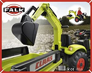 Falk - 995011 - Vélo et Véhicule pour Enfant - Excavatrice Claas [accessoire]