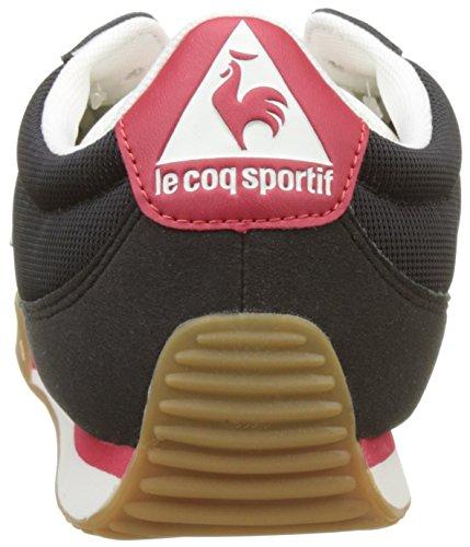Le Coq Sportif Volley Retro Gum, Formatori Bassi Uomo Nero (Black/vintage Red)