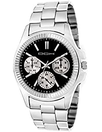 DCH Designer Stainless Steel Silver Analogue Black Dial Men's Wrist Watch