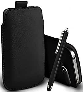 Great Deals on Click Sales®, Black, Samsung I9190 Galaxy S4 mini, Samsung I8190 Galaxy S III mini, S IV mini, Samsung I9192, PU PULL TAB, Flip Grip Protective POUCH WALLET SKiN POCKET LEATHER CASE COVER + Stylus Pen (Black)