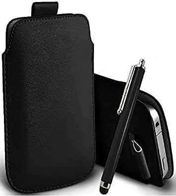 Great Deals on Click Sales®, Black, Samsung Galaxy Fame S6810, PU PULL TAB, Flip Grip Protective POUCH WALLET SKiN POCKET LEATHER CASE COVER + Stylus Pen (Black)