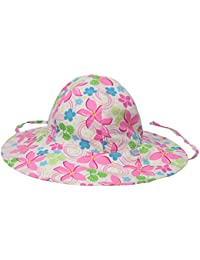 i play Classics Brim Sun Protection Hat for Unisex (6-18 Months, Infant, White Frangipani)