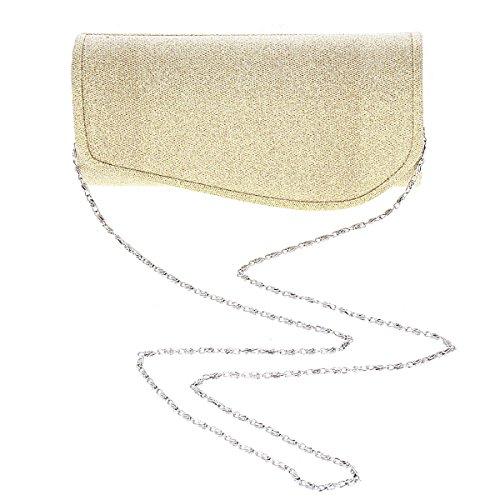 Damara® Glitter Ladies Chiusura Magnetica Nuove Borse In Argento