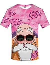 Camiseta de Verano de los Hombres 3D Divertidos Dibujos Animados Tops Estampados Hip Hop Estilo de