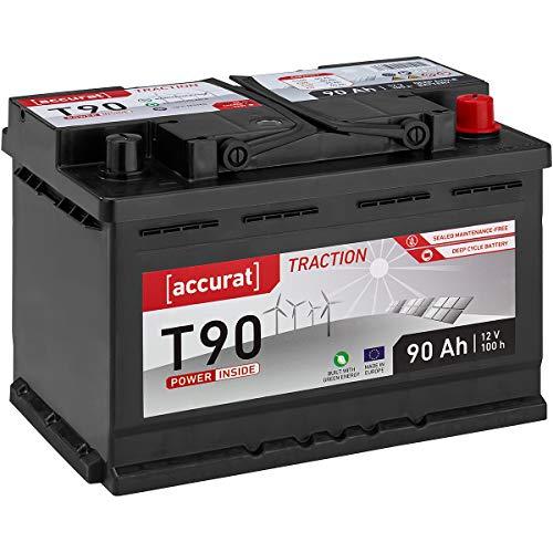 Preisvergleich Produktbild Accurat 12V 90Ah Nass Versrogungsbatterie (wartungsfrei) in 6 Varianten: 90-260Ah