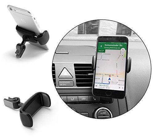 soporte universal de telefono movil para coche extensible y rotable 360º air vent support las ranuras o rejilla ventilacion cualquier movil - iphone samsung sony htc lg wikio - colocado en rejillas teléfonos smartphone del aire móvil celular teléfono - TH