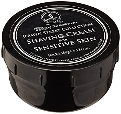 Taylors of Old Bond Street Jermyn Street Collection Shaving Cream for Sensitive Skin Screw Tread Pot 150gr by Taylor of Old Bond Street