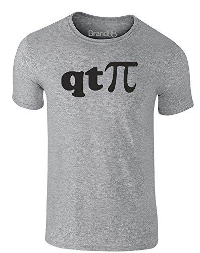 Brand88 - I'm a Cutie Pie, Erwachsene Gedrucktes T-Shirt Grau/Schwarz