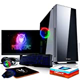 Fierce Ninja RGB Gaming PC Bundeln: 6 x 4.3GHz 6-Core Intel Core i5 8600, 240GB SSD, 1TB HDD, 16GB 2666MHz, GTX 1050 2GB, Win 10, Tastatur (QWERTZ), Maus, 24-Zoll-Monitor, Headset 1034084