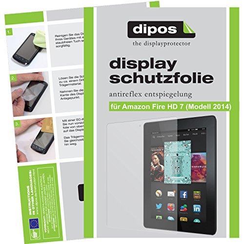 dipos I 2X Schutzfolie matt passend für Amazon fire HD 7 (Modell 2014) Folie Bildschirmschutzfolie