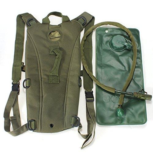 Inovey Überleben Wandern Klettern 3L Trinksystem Wassertasche Beutel Blase -Green