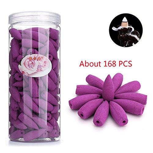 Coni di incenso, valvola antiritorno, coni di incenso 168pz smoke varie profumazioni sandalo naturale rosa limone sakura oceano lavanda incenso coni antiriflusso per defluire incenso rosa purple
