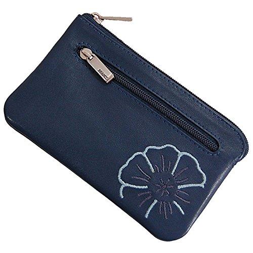 Branco Leder Schlüsseltasche Schlüsseletui Schlüsselmappe Schlüssel Etui in 4 Farben (Jeans-Blue)