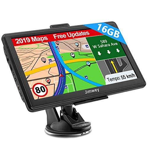 Navigation für Auto LKW Navi 7 Zoll Navigationsgerät Testsieger 2019 Navigationssystem PKW 16GB Lebenslang Kostenloses Kartenupdate mit POI Blitzerwarnung Sprachführung Fahrspur 52 Europa UK Karte