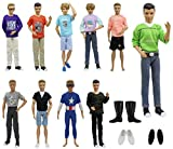 ZITA ELEMENT 10 Fashion Clothes Outfits and 3 Shoes for Barbie's Boyfriend Ken Doll XMAS GIFT