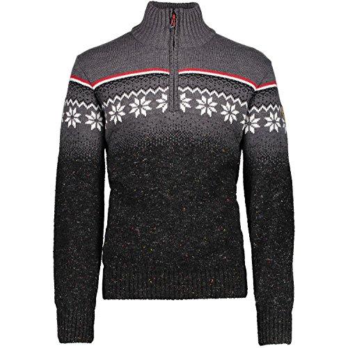 CMP Herren Pullover Man Knitted WP 7H67702 Fumo M. 48 (Alpaka-wolle Herren-pullover)
