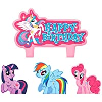 Party Time My Little Pony Friendship Molded Mini Character Birthday Candle Set Pack Of 4