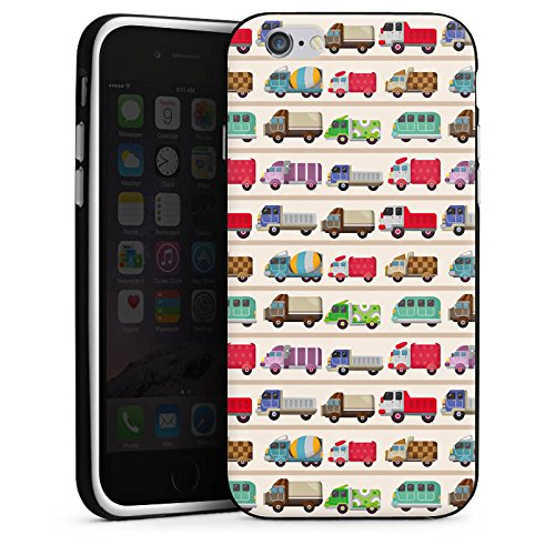 Apple iPhone X Silikon Hülle Case Schutzhülle Fahrzeug Auto Trucks LKW Bunt Silikon Case schwarz / weiß