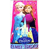 Shopkooky Towels For Kids 100% Cotton Full Size Super Soft Luxury Towels Cartoon Character Printed Silky Material For Face Body Quick Dry Long Durability (Frozen)