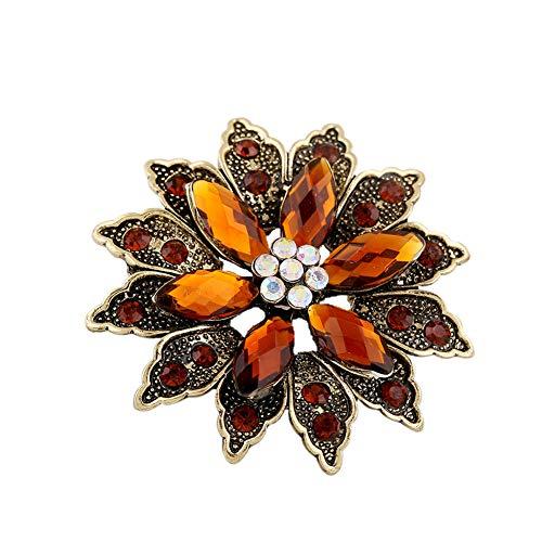 Pins Schmuck Kostüm Vintage - Da.Wa Pin 1 Stück Vintage Flower Anstecknadeln Kostüm Schmuck Geeignet für Hochzeit Braut Bekleidungszubehör Kaffee