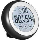 Topker ° C / ° F Thermomètre Numérique Hygromètre Température Humidité Mètre Réveil Tactile avec Rétroéclairage
