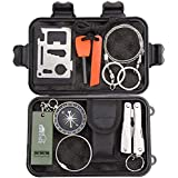 Emergency Survival Kit, ENON 9-In-1 Compact Outdoor Survival Gear Kits Portable EDC Emergency Survival Tools for Camping Hiki