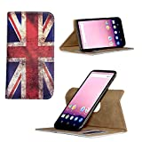 Handy Hülle für - MEDION Life P5005 - mit 360 Grade Dreh und Standfunktion - 360° Nano M England Union Jack