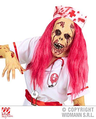 Enter-Deal-Berlin Maske - Zombie Krankenschwester - mit roten Haaren, Tod Kopfmasken Gesichtsmasken Arzt 1. Hilfe