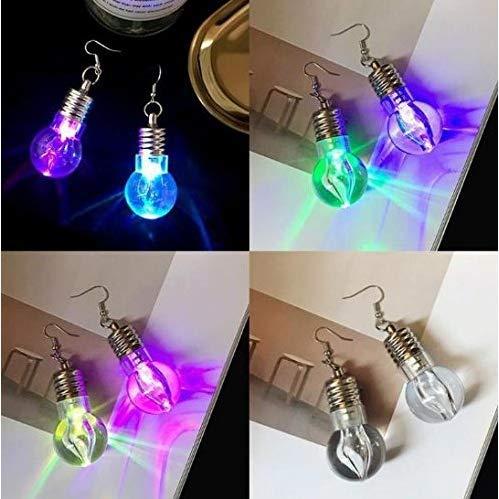 Gwill 2 Pairs / 4Pieces LED Blinkbirne Mode Frauen Leuchten Ohrring Ohrbügel Baumeln Party Pub Weihnachten Halloween Ohrringe Schmuck