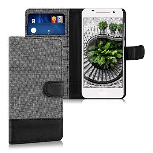 kwmobile HTC One A9 Hülle - Kunstleder Wallet Case für HTC One A9 mit Kartenfächern & Stand