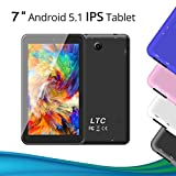 Black Friday Deals LeaningTech 7 Zoll Android 5.1 Google Tablet PC 8GB WiFi Quad Core IPS Display Dual Kamera Capacitive Touch Screen Allwinner A33 DDR3 1.3GHz tablett PC Pad auch für Kinder (Weiß)