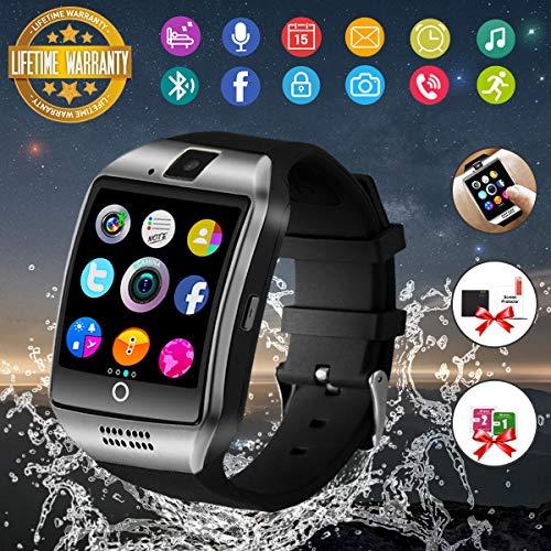 Bluetooth Smart Watch Sport Smartwatch mit Kamera Wasserdicht Uhren Fitness Tracker Armbanduhr Kompatible iOS iPhone Android Samsung LG f¨¹r Herren Damen Silber