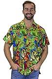 Funky Camicia Hawaiana, Jungle, verde, M