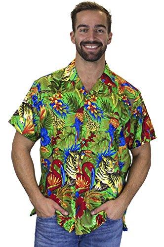 Funky-Camisa-Hawaiana-Jungle-verde-XL