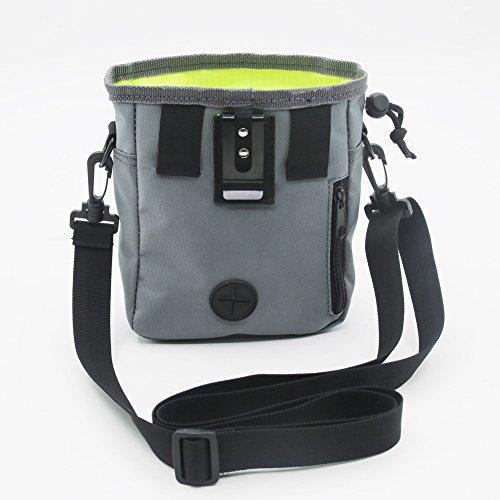 Dog Training Tasche, trägt Leckerlis und Spielsachen, eingebauter Poop Tasche Spender, verstellbar in der Taille und Schulter Gürtel, inklusive eine Rolle der Hundekotbeutel. (Features Schultergurt Verstellbarer)