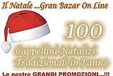 AJL Srl CAPPELLO di BABBO NATALE 100 Pezzi (52 CM DIAM)