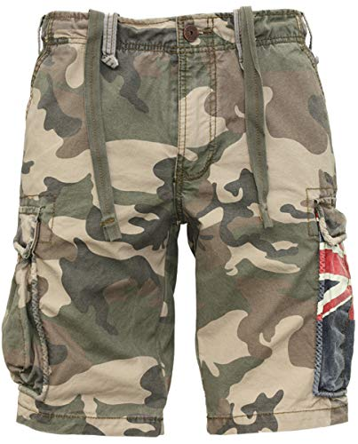 Army Green Cargo-shorts (Jet Lag Cargo Shorts SO16-22 Army Green Camouflage Australien, Größe:W34, Stil:Cargoshorts, Farbe:Camouflage)
