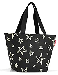 Reisenthel Shopper M Stars, Polyester, Schwarz, 51 x 30.5 cm
