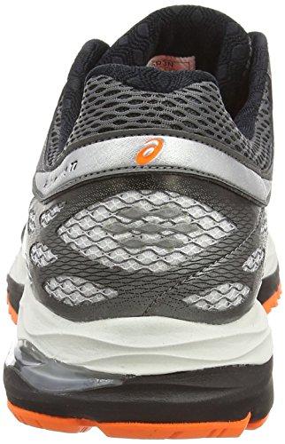 Asics Gel-cumulus 17, Chaussures de Running Entrainement Homme Blanc (white/silver/hot orange 0193)