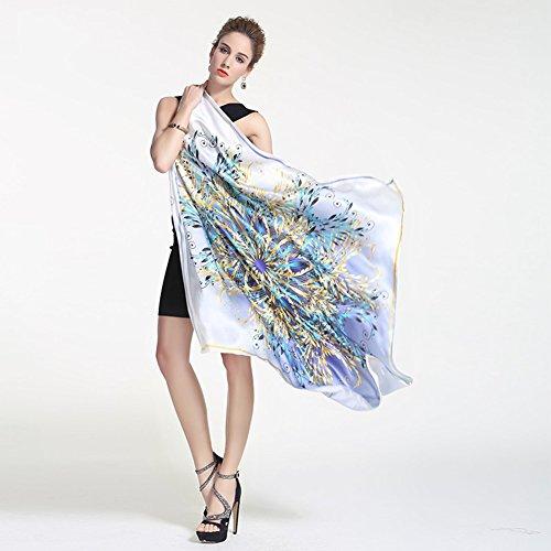 XIAOXIAO Schal 100% Seide Material Chinesischen Stil Ölgemälde Schmetterling Muster...