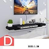 TV-Schrank-Set - Top-Box-Regale Wohnzimmer TV Wand Hintergrund Wand hängen Schlafzimmer-Trennwände Wanddekoration (Mehrfache Arten vorhanden) ( Farbe : D )